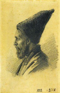 An Old Man in a Tall Hat | Vasily Vasilevich Vereshchagin | Oil Painting