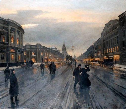 View of Nevsky Avenue