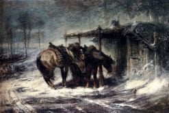 The Snowstorm | Adolf Christian Schreyer | Oil Painting