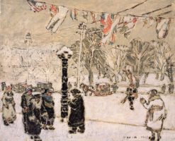 Carnival Dress (also known as Dominion Square I) | David Milne | Oil Painting