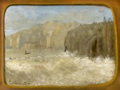 Two Gulls and Cliffs   Louis M. Eilshemius   Oil Painting