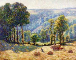 Harvest: Sunlight Effect | Wynford Dewhurst | Oil Painting
