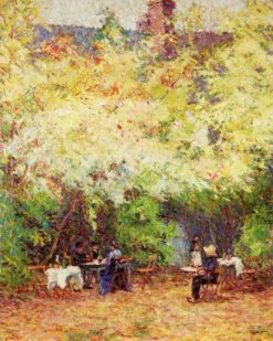 Luncheon in the Garden (also known as Le Déjeuner dans Le Jardin) | Wynford Dewhurst | Oil Painting