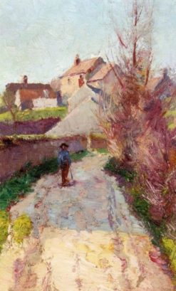 Man in Village Lane | Wynford Dewhurst | Oil Painting