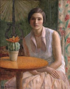 Portrait of a Woman (also known as Portrait of a Woman with Cactus) | Frederick Carl Frieseke | Oil Painting