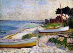 Beach Scene   William Glackens   Oil Painting
