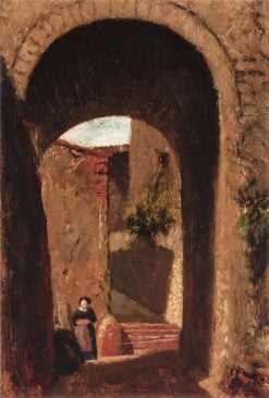 Archway with Woman | Elihu Vedder | Oil Painting
