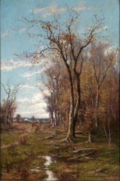 Autumn Landscape | DuBois Fenelon (D.F. Hasbrouck | Oil Painting