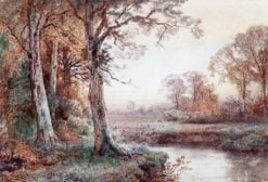 Autumn Landscape with Stream | William Trost Richards | Oil Painting
