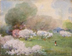 Cherry Blossoms | William Henry Holmes | Oil Painting