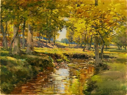 Autumn in the Meadow Edge | William Henry Holmes | Oil Painting
