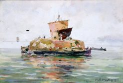 Venetian Freight Boats | William Henry Holmes | Oil Painting