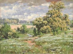 Chestnut Trees in Bloom   William Henry Holmes   Oil Painting