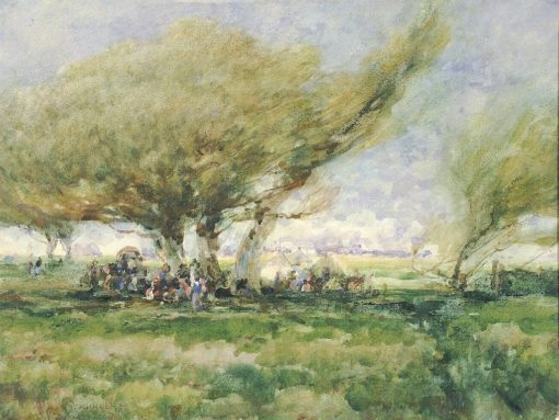 A Gypsy Camp   William Henry Holmes   Oil Painting