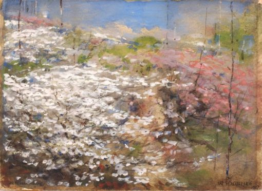 Field of Blossoms   William Henry Holmes   Oil Painting