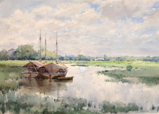 River Landscape | William Henry Holmes | Oil Painting