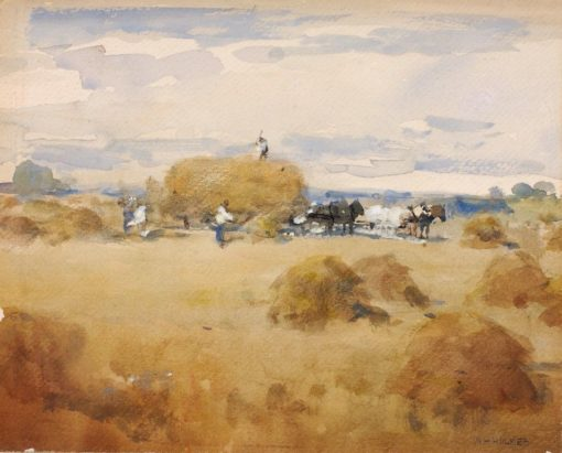 Haymaking Scene | William Henry Holmes | Oil Painting