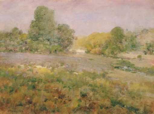 Field of Varicolored Grasses in Late Summer | William Henry Holmes | Oil Painting