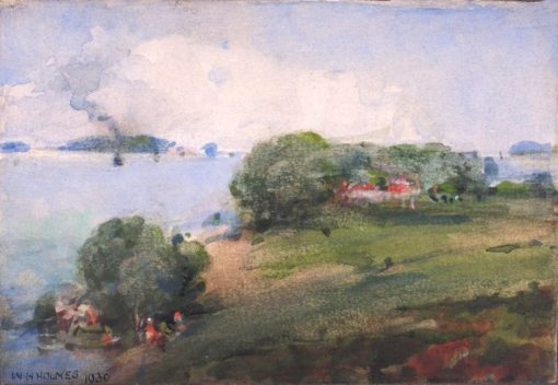 View on the Potomac | William Henry Holmes | Oil Painting