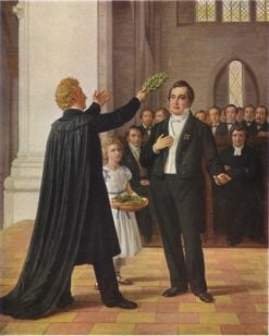 Tegner confronts Oehlenschlager in Lund Cathedral 1829 | Constantin Hansen | Oil Painting