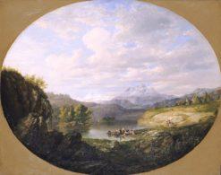 A Swiss Lake | Daniel Huntington | Oil Painting