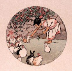 Feeding the Bunnies | Helen Hyde | Oil Painting