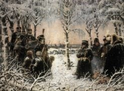 Soldiers in the Winter Forest | Vasily Vasilevich Vereshchagin | Oil Painting
