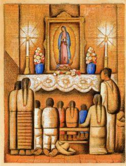 El altar de la Virgen | Alfredo Ramos Martinez | Oil Painting