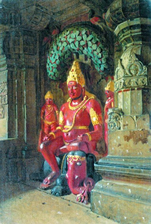Vishnu Statue | Vasily Vasilevich Vereshchagin | Oil Painting
