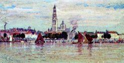 Antwerp   Samuel Colman   Oil Painting
