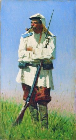 Turkestan Soldier | Vasily Vasilevich Vereshchagin | Oil Painting