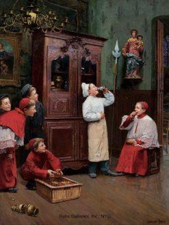 Chacun prend son plaisir ou il le trouve | Paul-Charles Chocarne-Moreau | Oil Painting