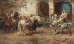 Arabian Horsemen | Adolf Christian Schreyer | Oil Painting