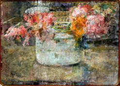 Roses in a Glass Bowl | Olga Bozna?ska | Oil Painting