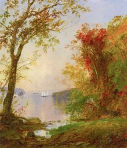 Boating on the Hudson (also known as Sailboat near Hook Mountain) | Jasper Francis Cropsey | Oil Painting