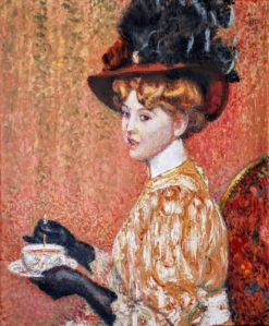 The cup of tea | Georges Lemmen | Oil Painting
