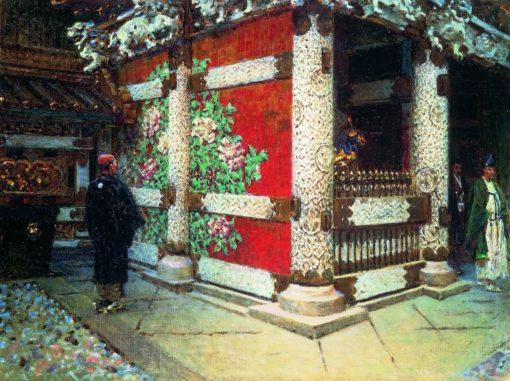 A Shintoist Temple | Vasily Vasilevich Vereshchagin | Oil Painting