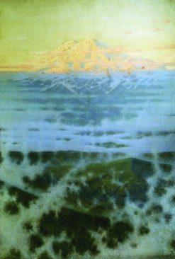Mount Elbrus   Vasily Vasilevich Vereshchagin   Oil Painting