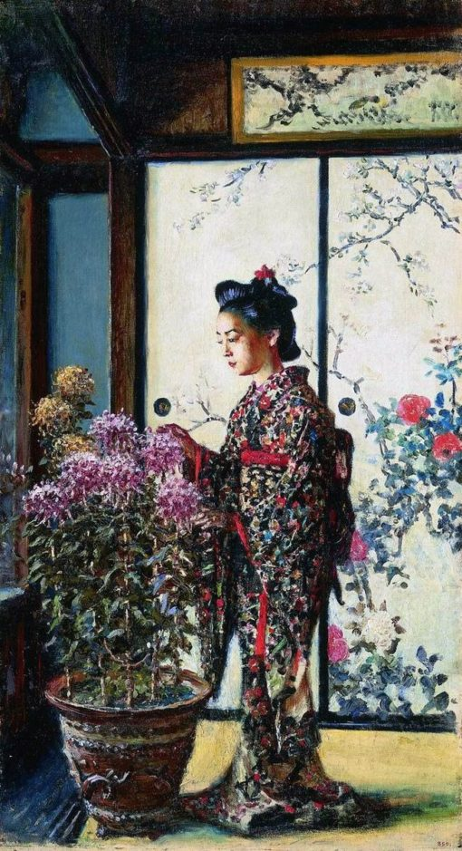 A Japanese Lady | Vasily Vasilevich Vereshchagin | Oil Painting