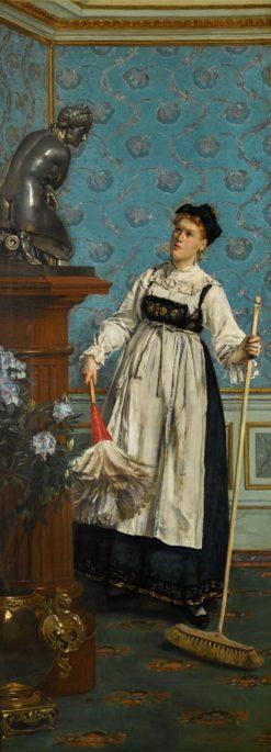 An Aspiring Connoisseur | Alfred Émile Léopold Stevens | Oil Painting