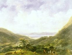 View of Rio de Janeiro bay from the mountains in Tijuca | Nicolas-Antoine Taunay | Oil Painting