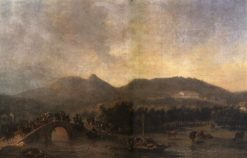 The royal procession's crossing de Maracanã bridge | Nicolas-Antoine Taunay | Oil Painting
