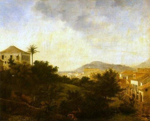 View from Morro da Glória   Nicolas-Antoine Taunay   Oil Painting