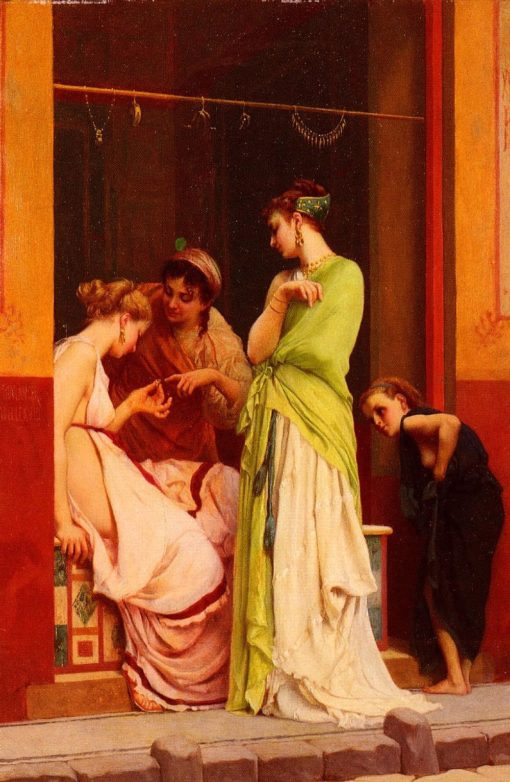 Jewelry Seller in Pompeii | Gustave Boulanger | Oil Painting