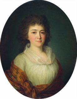 Portrait of Agrafena Pisareva | Fedor Rokotov | Oil Painting