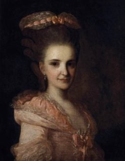 Portrait of a Lady in Pink Dress | Fedor Rokotov | Oil Painting