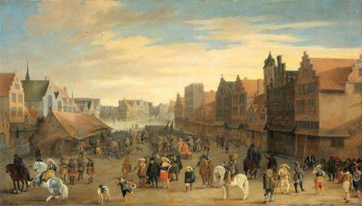 The disbanding of mercenaries by Prince Maurits in Utrecht