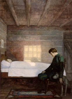 He Sat There util the Sun Went Down | Newell Convers (N.C. Wyeth | Oil Painting