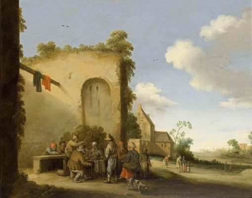 Village Street   Joost Cornelisz. Droochsloot   Oil Painting