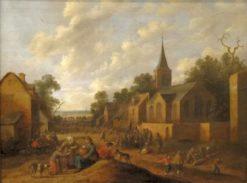 A Village Scene | Joost Cornelisz. Droochsloot | Oil Painting